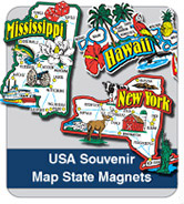 USA Souvenir State Magnets