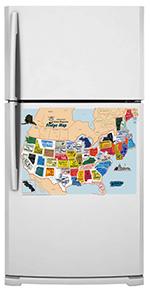 Usa Canada Set 50 State Magnets Washington Dc Puerto Rico And 13 Canadian Provinces Plus Free Fridge Map
